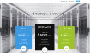 Шаблон GK CloudHost для CMS Joomla от GavickPro