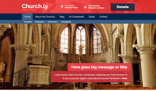 Шаблон HOT Churchly для CMS Joomla от HotJoomla