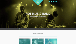 Шаблон HOT Music Band для CMS Joomla от HotJoomla