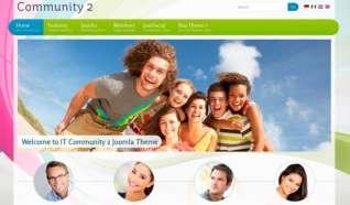 Шаблон IT Community 2 для CMS Joomla от IceTheme