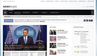 Шаблон S5 Newsplace для CMS Joomla от Shape5