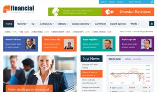 Шаблон SJ Financial для CMS Joomla от SmartAddons