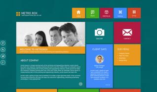 Шаблон TF Metro Rox для CMS Joomla от ThemeForest