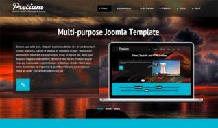 Шаблон YJ Pretium для CMS Joomla от YouJoomla