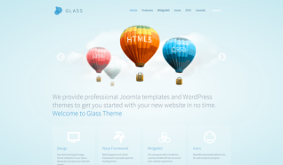 Шаблон YT Glass для CMS Joomla от YOOTheme