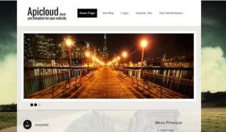 Шаблон Apicloud Black для CMS Joomla от Прочие