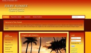 Шаблон Fiery Sunset для CMS Joomla от Прочие