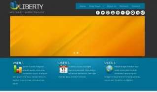 Шаблон Liberty для CMS Joomla от Прочие