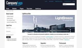 Шаблон Lightbreeze-blue для CMS Joomla от Прочие