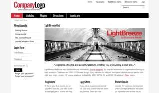 Шаблон LightBreeze-Red для CMS Joomla от Прочие