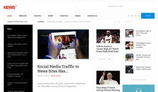 Шаблон GK news 2 для CMS Joomla от GavickPro