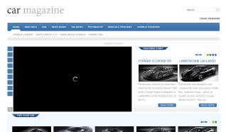 Шаблон GK Car Magazine для CMS Joomla от GavickPro