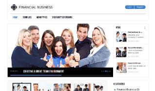 Шаблон GK Financial Business для CMS Joomla от GavickPro