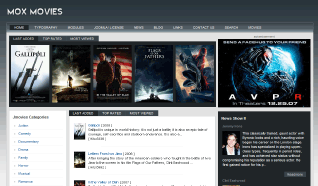 Шаблон GK Mox Movie для CMS Joomla от GavickPro