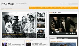 Шаблон GK MusicTop для CMS Joomla от GavickPro