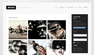 Шаблон GK MyFolio для CMS Joomla от GavickPro