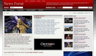 Шаблон GK News Portal для CMS Joomla от GavickPro