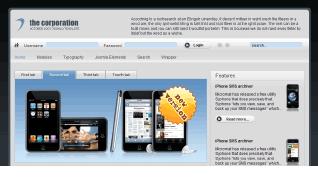 Шаблон GK The Corporation для CMS Joomla от GavickPro