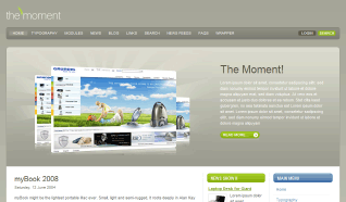 Шаблон GK The Moment для CMS Joomla от GavickPro
