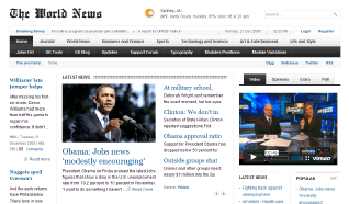 Шаблон GK The World News для CMS Joomla от GavickPro