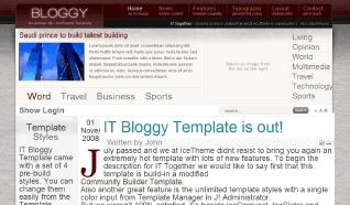 Шаблон IT Bloggy для CMS Joomla от IceTheme