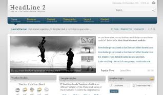 Шаблон IT HeadLine 2 для CMS Joomla от IceTheme