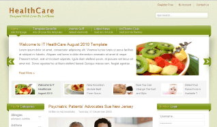 Шаблон IT HealthCare для CMS Joomla от IceTheme