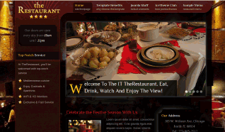 Шаблон IT theRestaurant для CMS Joomla от IceTheme