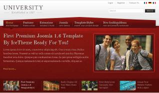 Шаблон IT University для CMS Joomla от IceTheme