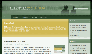 Шаблон JA Altair для CMS Joomla от JoomlArt