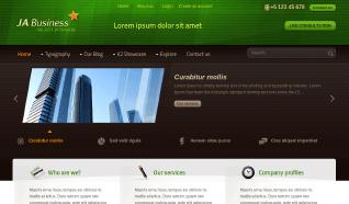 Шаблон JA Business для CMS Joomla от JoomlArt