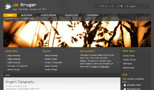 Шаблон JA Kruger для CMS Joomla от JoomlArt