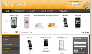 Шаблон JA Larix для CMS Joomla от JoomlArt