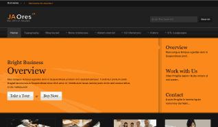 Шаблон JA Ores для CMS Joomla от JoomlArt