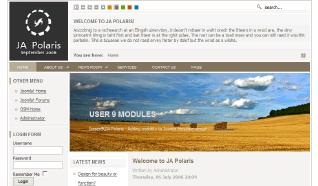 Шаблон JA Polaris для CMS Joomla от JoomlArt