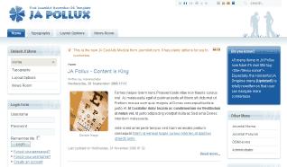 Шаблон JA Pollux для CMS Joomla от JoomlArt