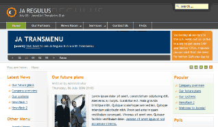 Шаблон JA Regulus для CMS Joomla от JoomlArt