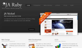 Шаблон JA Ruby для CMS Joomla от JoomlArt