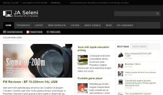 Шаблон JA Seleni для CMS Joomla от JoomlArt