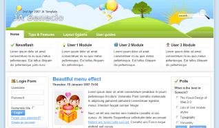 Шаблон JA Senecio для CMS Joomla от JoomlArt