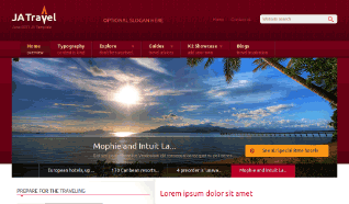 Шаблон JA Travel для CMS Joomla от JoomlArt