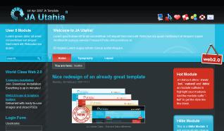 Шаблон JA Utahia II для CMS Joomla от JoomlArt
