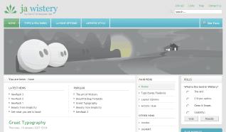 Шаблон JA Wistery для CMS Joomla от JoomlArt