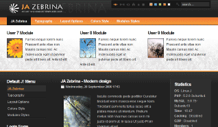 Шаблон JA Zebrina для CMS Joomla от JoomlArt