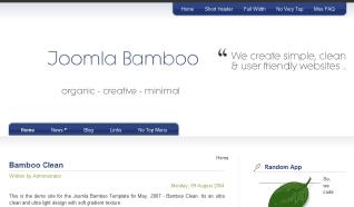 Шаблон JB Bamboo Clean для CMS Joomla от JoomlaBamboo