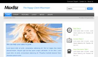 Шаблон JB Max Biz для CMS Joomla от JoomlaBamboo