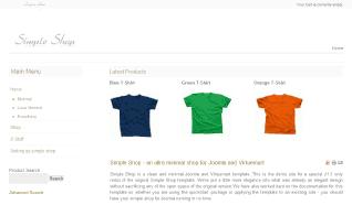 Шаблон JB Simple Shop для CMS Joomla от JoomlaBamboo