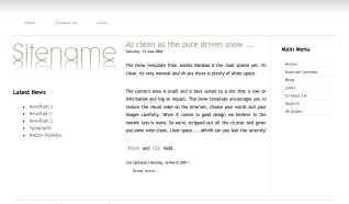 Шаблон JB Snow для CMS Joomla от JoomlaBamboo