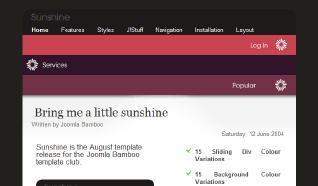 Шаблон JB Sunshine для CMS Joomla от JoomlaBamboo