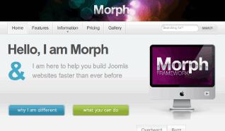 Шаблон JJ Morph для CMS Joomla от JoomlaJunkie
